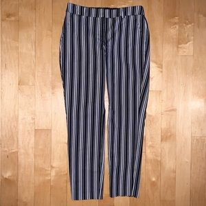 EXPRESS Ankle Pant, Striped, Size 4